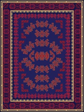 Blue and Red Carpet Design