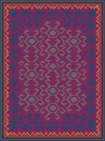 Carpet Design in Oriental Style