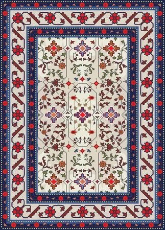 Resumen de diseño de alfombras Ilustración de vector