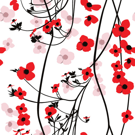 Bloemen Patroon Op Wit