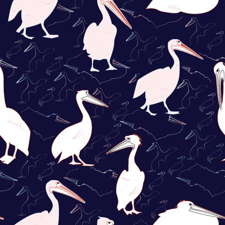 pelicans: Pelican Seamless Pattern