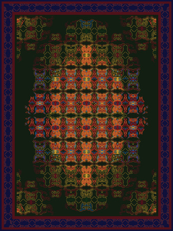 kilim: Colorful Carpet Design Illustration