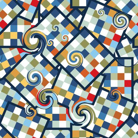 texture fantasy: Circus Clown Seamless Pattern Illustration