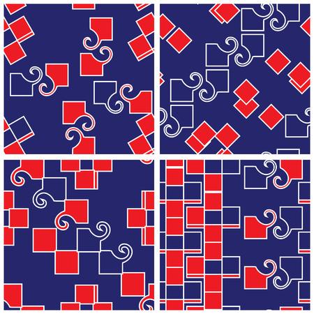 matching: Abstract Funky Matching Patterns Set Illustration