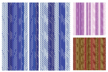 jacquard: Elegant striped swatch set; color variations Illustration