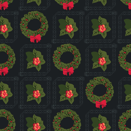 advent wreath: Advent Wreath Motif Christmas Seamless Pattern