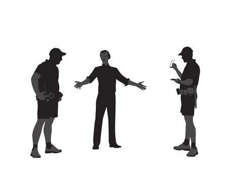 Foot Patrol Check Illustration Vector