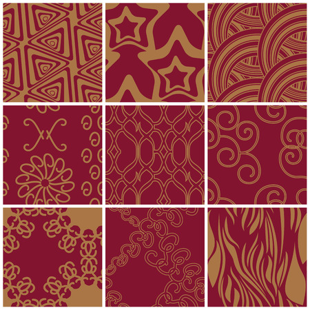 Decorative Matching Swatches Set Vector