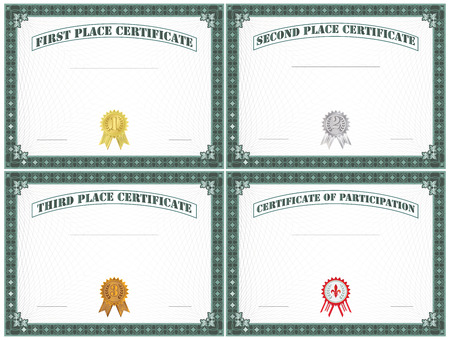 1 place: Blank Certificate Set