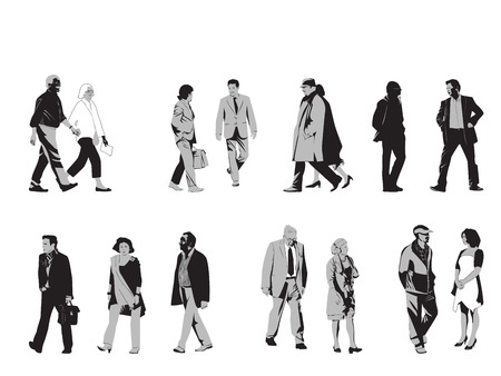 Collection Of Senior Silhouettes