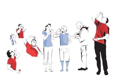 herring: Dutch Herring Eaters Illustration Illustration