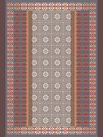 geometrical pattern: Beige Tones Carpet