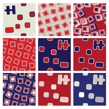 matching: Abstract matching seamless backgrounds Vectores