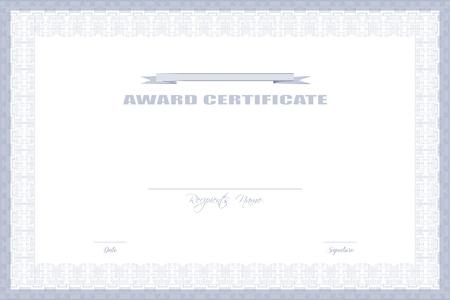 formal: Award Certificate Design