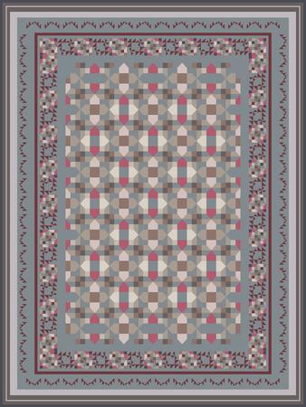 floor mat: Ash Gray Tones Carpet Design Illustration