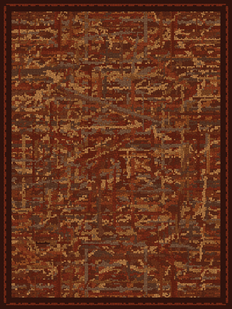 carpet design: Abstract Rust Colored Carpet Design Illustration