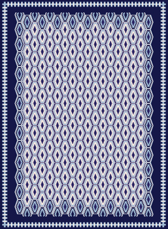 kilim: Blue Carpet Design