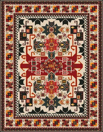 oriental rug: Ethnic Style Rug Design