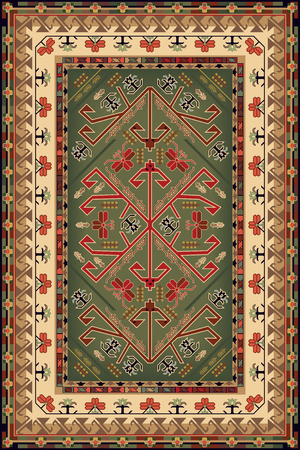 red rug: Design For Ethnic Style Area Rug