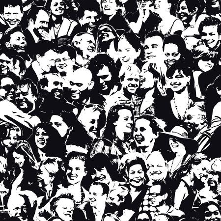 Happy People Antecedentes Foto de archivo - 53979893
