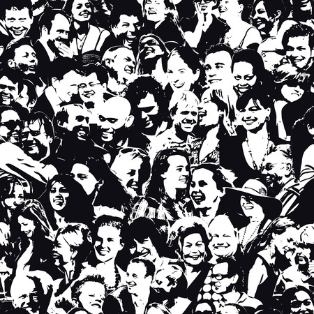 Happy People Hintergrund Standard-Bild - 53979893
