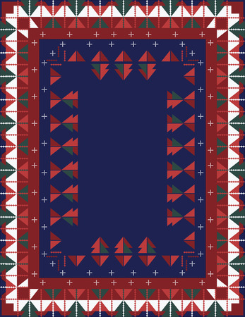 a tablecloth: Christmas Tablecloth Design Illustration