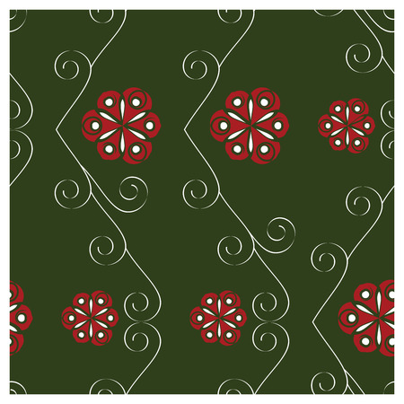 spiralling: Christmas Gift Wrapping Swirling Seamless Swatch