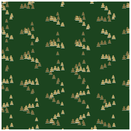 christmas motif: Christmas Wrapper With Abstract Fir Tree Motif