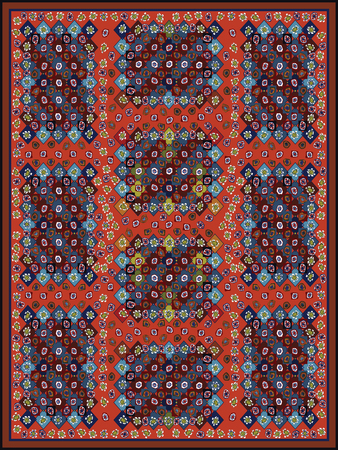 kilim: Colorful Carpet Design Design for multi-colored carpet. Illustration