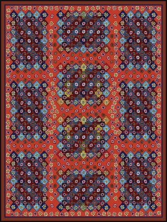 Kleurrijk Tapijt Ontwerp Design voor veelkleurig tapijt.