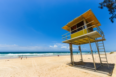 Lifeguard hut on the beach, Surfers Paradise photo