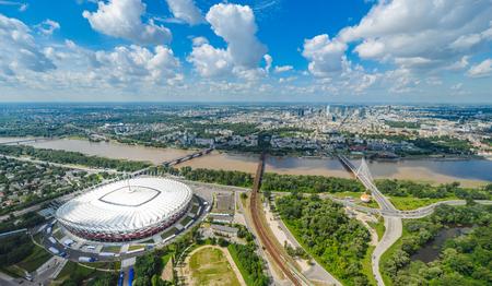 Luftbild von Warschau, Polen Standard-Bild