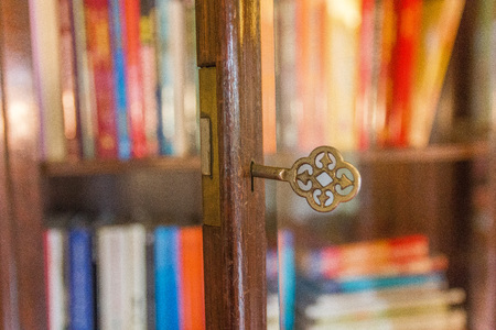 key show in shallow depth of field accentuating the unlocking of knowledge