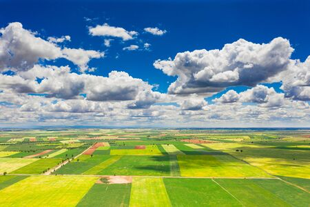 Agricultural fields in a village in Spain.