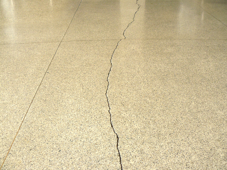 cranny: Crack of Terrazzo floor surface for texture and background. Stock Photo