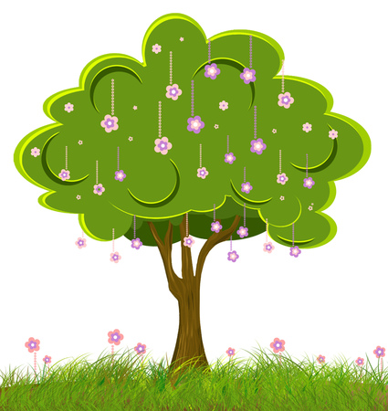 Single big tree with pink flowers and green leaves standing alone single big tree with pink flowers and green leaves standing alone stock photo picture and royalty free image image 78490897 mightylinksfo