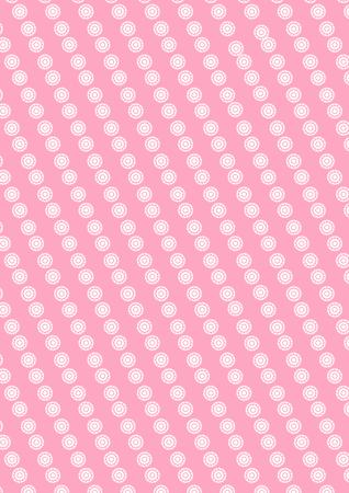 Illustration of cute circle white small flowers pattern on pink background.