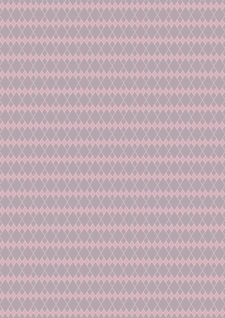Harlequin of diamond shaped, pink and gray tone color pattern, background. Stock Photo