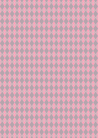harmonic: Harlequin of diamond shaped, pink and gray color pattern, background.