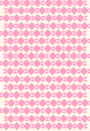 Harlequin of diamond shaped on strip of ribbon, pink color pattern, background. Stock Photo