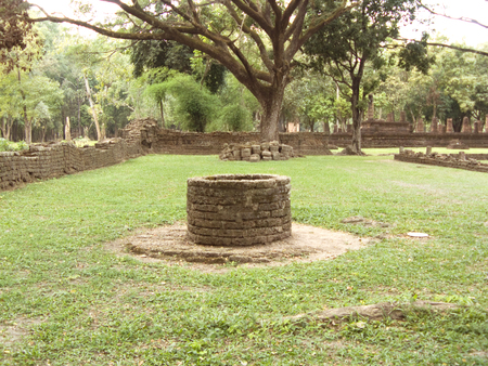 Rune of stone well at Historic Town of Sukhothai and Associated Historic Towns or Si Satchanalai Historical Park,