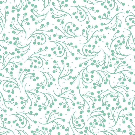 Simple Organic Nature Leaf Inspired Seamless Pattern