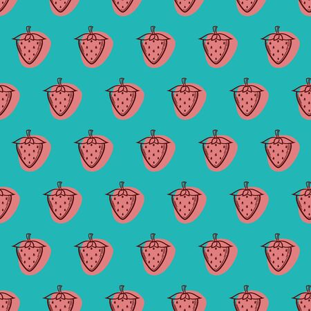 Cute and Fun Strawberry Inspired Seamless Pattern