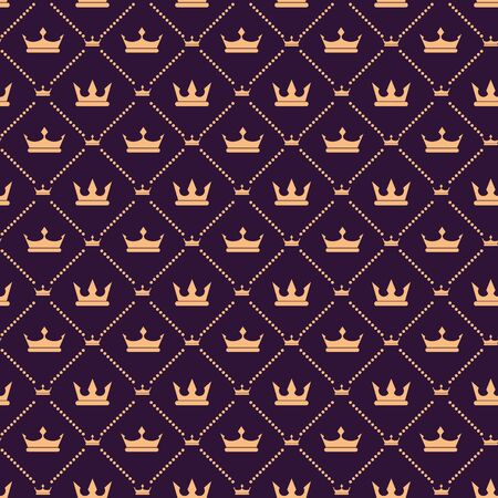 Cute and Iconic Simple Crown Seamless Pattern