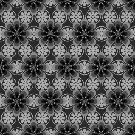Beautiful flower inspired seamless pattern