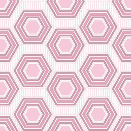 Simple Geometric Hexagon Seamless Surface Pattern Design
