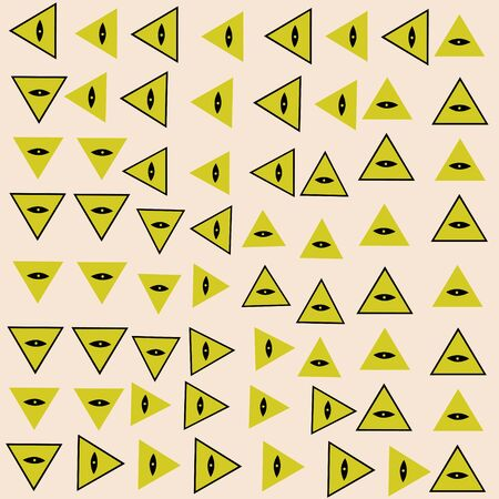 pattern of pyramid and eye masons symbols  イラスト・ベクター素材