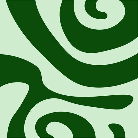 pattern of curving wavy green shape on a light background