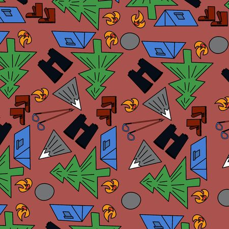 pattern with elements of relaxation in the mountains