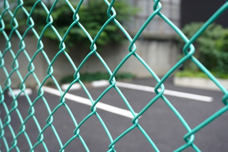 wired: Wired fence wall.